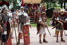 Roman soldiers on display