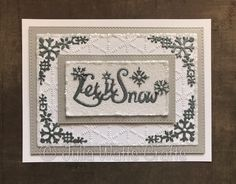 Morning. Here's today's card - I cut the bottom section of the Paper Cuts Let it Snow Frame out of Coconut White Card and trimmed a...