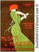 Musica E Musicisti. Leonetto Cappiello - Art Print