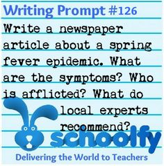 creative writing prompt for high school students