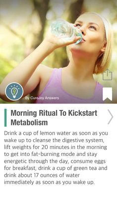 Morning Ritual To Kickstart Metabolism - via @CureJoy