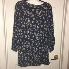 ROXY DRESS TUNIC S/P JUNIOR BOHO PEASANT TASSEL TIE NECK NAVY FLORAL  #NAVY #Mini Ebay Dresses, Roxy, Tassels, Tunic, Blouse, Floral, Women, Fashion, Moda
