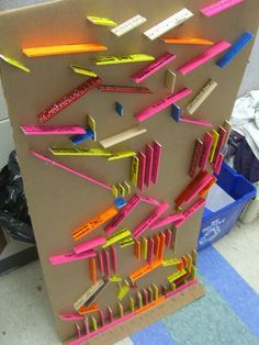 Marble Run game made for elementary students. Could be used for classroom management or as a reward.