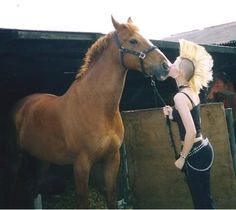 Horse-day in the sun. | 23 Pictures That Prove Punks Are Actually Total Softies