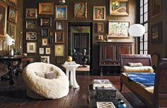 Living room of Gwynn Griffith, San Antonio, Texas. It's a 19th century building…
