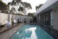 A beautiful pool area by David Reid Homes Melbourne East! A perfect place to cool off this summer!
