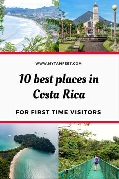 10 great destinations in Costa Rica for 1st time visitors. All are easily accessible, have lots of fun things to do and all of the tourist amenities. Click through to read: https://mytanfeet.com/costa-rica-travel-tips/best-places-in-costa-rica/  Costa Ric