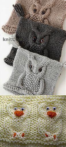 Patterns & quot; & quot; Búho  y & quot; Duck & quot;  para el acabado de la ropa de los niños |  Nuestra casa