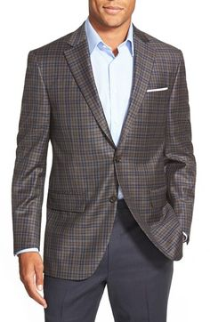 Peter Millar Classic Fit Plaid Wool Sport Coat available at #Nordstrom