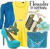 love the yellow and bright blue