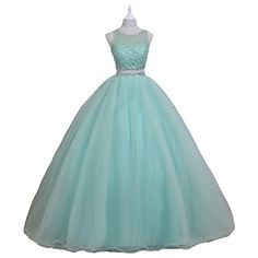 c7d664e6d3 New Pettus Women s Two Pieces Beading Prom Dresses Crystals Sequins Sweet  16 Quinceanera Gowns Formal P510