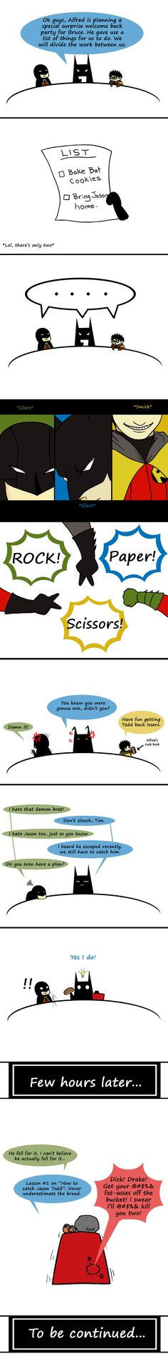 Catching Jason Todd by ~CrimsonHorror  DAMIAN YOU LOOK SO CUTE AND TINY