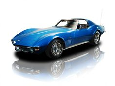 1971 Blue on Black Chevrolet Corvette Coupe