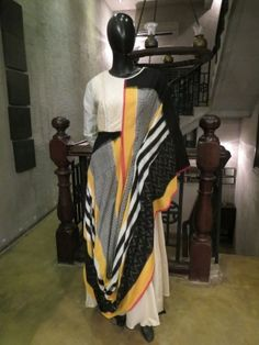 Assymetrical Draped Ikat Tunic is now available to be ordered at http://www.ekru.in/product/assymetrical-draped-ikat-tunic-28