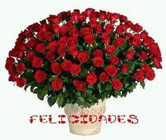 Ramo de rosas rojas para felicitar el cumpleaños