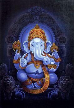 Lord Ganesha (Reprint On Paper - Unframed)