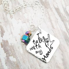 I talk with my hands Sterling Silver necklace