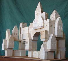 jouet bois, château modulable