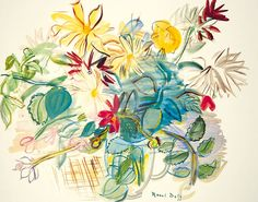 Bouquet of Flowers  -  Raoul Dufy  French 1877-1953