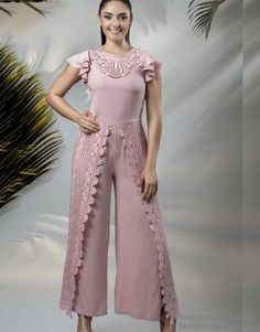 CONJUNTOS Y VESTIDOS - PRIMAVERAL Bordados y Accesorios Dress Patterns, Jumper, Jumpsuit, Victoria, Plus Size, Womens Fashion, Casual, Pink, Outfits