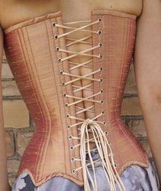 cupped silk corset back made by Tara Ellis