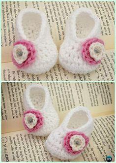 Crochet Basic Baby Booties Free Pattern - #Crochet Baby Booties Slippers Free Pattern