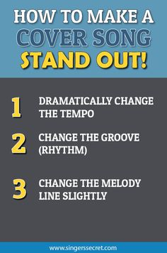 Uploading songs to YouTube? Here's how to make your cover song stand out. http://singerssecret.com/how-to-make-a-cover-song-stand-out/ #musicmarketing #singing