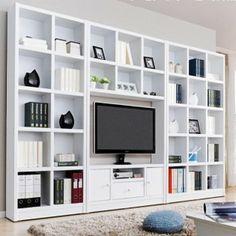 Tv Wall With Billy Bookcases Google Zoeken