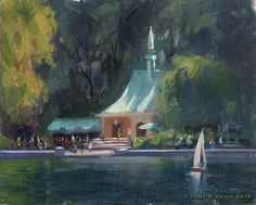 Tony D'Amico  A Day in the Park 8x10 oil... painted in Central Park NYC