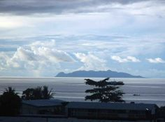 Honiara Solomon Islands- white clouds over Savo Island
