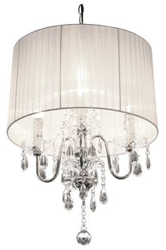 Stunning crystal droplet chandelier, 3 light chandelier with hanging ...