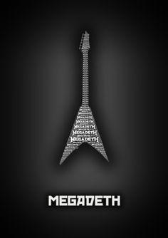 Megadeth ~ Minimalistic Music Posters by Sahil Thappa, via Behance