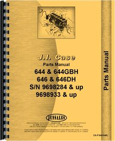 Case 646 Lawn & Garden Tractor Parts Manual