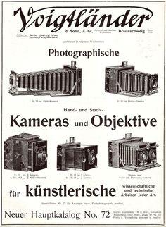 Original-Werbung/ Anzeige 1907 - 2 x 1/1 SEITE - VOIGTLÄNDER KAMERAS / BINOCLES | eBay