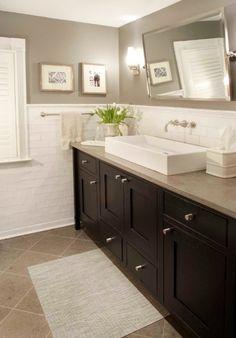 Gorgeous Trough Sink! Neutral Bathroom - Classic