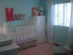 baby girl nursery ideas-cute color