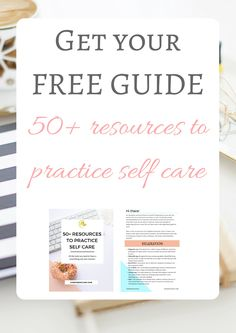 Need more self care in your life but don't know where to start? Download your free guide and get all the best suggestions from a psychologist!