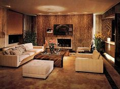 The Johnsons' Chicago apartment, designed by Arthur Elrod and William Raiser, featured in Architectural Digest, 1972.