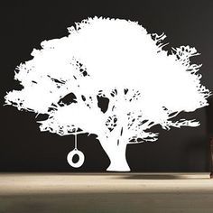 Tire Swing Tree Wall Decal