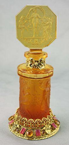 "Czech Hoffman ""3 Graces"" Jeweled Art Deco Perfume Bottle http://www.collectorsnet.com/Amy-Bergman-Antiques/Czech-Hoffman-3-Graces-Jeweled-Art-Deco-Perfume-Bottle/#sthash.DI3aXqks.dpuf"