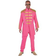 Costume Beatles Sgt Pepper pink deluxe adulte.