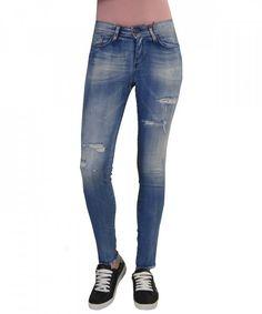 Γυναικείο τζην με σκισίματα Z9450 #γυναικείατζιν #παντελόνια #μόδα #γυναίκα #ψηλόμεσατζιν #womensjeans #fashion #style Skinny Jeans, Pants, Fashion, Skinny Fit Jeans, Moda, Trousers, Fashion Styles, Women Pants, Women's Pants