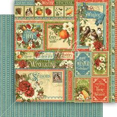 Graphic 45 - Seasons Collection - 12 x 12 Double Sided Paper - Winter Collective