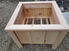 Planter Box Plans, Diy Planter Box, Diy Planters, Deck Planter Boxes, Bucket Gardening, Container Gardening, All You Need Is, Garden Projects, Garden Ideas