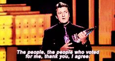 Nathan Fillion has the best acceptance speeches