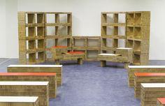 Muebles de cartón alveolar, Biblioteca Civica Movimente, de A4Adesign | Diseño italiano | Experimenta