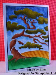 Stampinback.nl: tree stencil