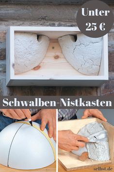 Build nesting boxes for swallows - When the swallows come back, summer begins! So that you don& have to be afraid of swallow nes -