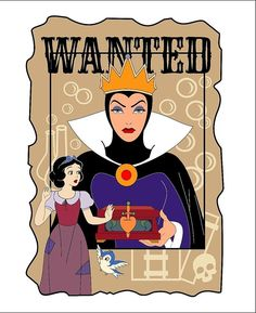 Snow White & Evil Queen Grimhilde (Drawing by Lil_Jane_Art Arte Disney, Disney Art, Disney Pixar, Disney Girls, Baby Disney, Disney Love, Evil Villains, Disney Villains, Disney Princesses