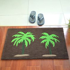 Palm Tree Print Hallway Area Rug